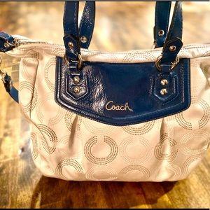 Coach Ashley Dotted Art Op Handbag